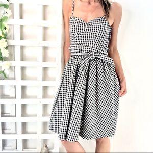 H&M Cotton Sundress Empire Waist Gingham check pri